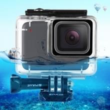 PULUZ voor GoPro HERO7 zilver /7 wit 45 m onderwater waterdichte behuizing duiken beschermhoes met gesp Basic Mount & schroef