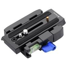 PULUZ Snelkoppel Klem Adapter + Snelkoppel Plaat voor DSLR Camera (zwart)