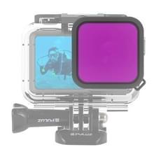 PULUZ Housing Diving Color lens filter voor DJI osmo actie (paars)