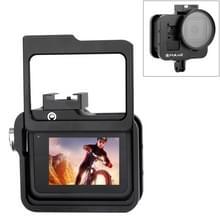 PULUZ behuizing CNC aluminiumlegering beschermende kooi met verzekerings frame & 52mm UV lens voor GoPro HERO8 zwart (zwart)