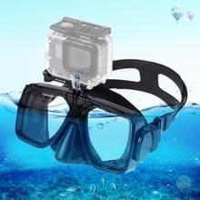 PULUZ water sport duikuitrusting duiken masker Zwemmen glazen  compatibel met DJI osmo actie  GoPro HERO7/6/5/5 sessie/4 sessie/4/3 +/3/2/1  Xiaoyi en andere actie camera's (zwart)