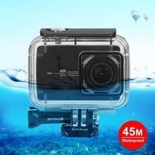 PULUZ 45 onderwater waterdichte behuizing duiken Case voor Xiaomi Xiaoyi II 4K actie camera  met gesp Basic Mount & schroef