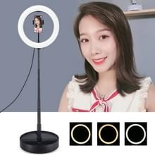 PULUZ 10 2 inch 26cm USB 3 Modes Dimable Dual Color Temperature LED Curved Ring Vlogging Selfie Photography Video Lights with Folding Desktop Holder & Phone Clamp (Black) PULUZ 10.2 inch 26cm USB 3 Modes Dimable Dual Color Temperature LED Curved Ring Vlog