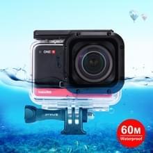 PULUZ 60m Onderwater diepte duikcase waterdichte camerabehuizing voor Insta360 ONE R 4K Wide-angle Edition(Transparant)