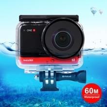 PULUZ 60m Onderwater diepte duikcase waterdichte camera behuizing voor Insta360 ONE R Panorama Camera Edition(Transparant)