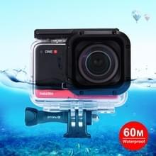 PULUZ 60m Onderwater diepte Duikcase Waterdichte camerabehuizing voor Insta360 ONE R 1 0 inch Edition (Transparant)