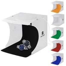 PULUZ 20cm omvatten 2 LED panelen vouwen draagbare 1100LM lichte foto verlichting Studio schieten Tent Box Kit met 2 kleuren achtergronden (zwartwit) ontvouwen formaat: 24 x 23 cm x 22 cm