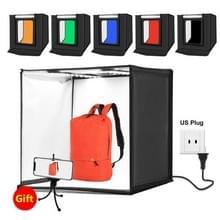 PULUZ PSE Certified Photo Studio lichtbak draagbare 60 x 60 x 60 cm lichte tent LED 5500K mini 60W Fotografie Studio tent Kit met 6 verwisselbare achtergrond (zwart oranje wit groen blauw rood)