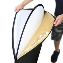 PULUZ 110cm 5 in 1 (zilver / doorzichtig / goud / wit / zwart) vouwen Foto Studio Reflector Board