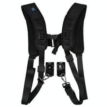 [UAE voorraad] PULUZ Quick release dubbele schouder harnas Soft pad decompressie Foam riem riem voor DSLR digitale camera's