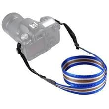 PULUZ streep stijl serie schouder camerariem van de riem van de hals voor SLR / DSLR Cameras(Blue)