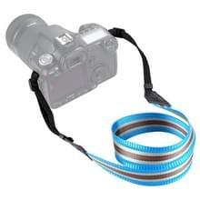 PULUZ streep stijl serie schouder camerariem van de riem van de hals voor SLR / DSLR camera's (Lake blauw)