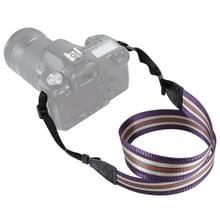 PULUZ streep stijl serie schouder camerariem van de riem van de hals voor SLR / DSLR Cameras(Purple)