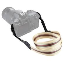 PULUZ streep stijl serie schouder camerariem van de riem van de hals voor SLR / DSLR Cameras(Beige)