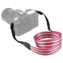 PULUZ streep stijl serie schouder camerariem van de riem van de hals voor SLR / DSLR camera's (Rose-rood)