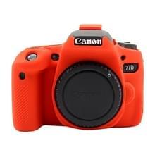 PULUZ zachte siliconen beschermhoes voor Canon EOS 77D (rood)