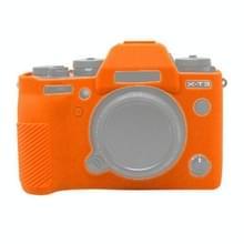 PULUZ zachte siliconen beschermhoes voor FUJIFILM XT3 (oranje)