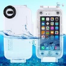 PULUZ 40m / 130ft waterdichte duiken huisvesting Foto Video nemen dekken onderwaterbehuizing voor iPhone 8 Plus & 7 Plus(White)