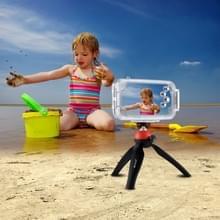 PULUZ voor iPhone X 40m / 130ft waterdichte duiken huisvesting Foto Video nemen dekken onderwaterbehuizing (transparant)