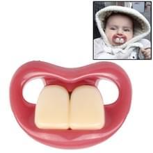 Veilige grappige twee rippertanden siliconen Baby tepel
