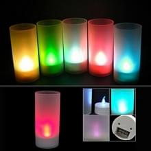 LED Magic Color Changing Candle Light - Flicker licht  speciaal voor kerst gift(White)