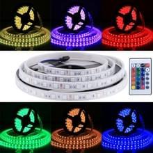 Behuizing waterdicht touw licht  lengte: 5m  kleurrijke licht 5050 SMD LED met 24 toetsen afstandsbediening  30 LED/m  12V 5A