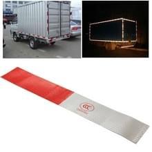 10 PC's veiligheid waarschuwing auto Strap reflecterende Truck Sticker  grootte: 29.5 x 4 8 cm (rood + zilver)