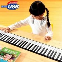 Portable USB MIDI Roll-up 88 Standard Keys Flexible Soft Keyboard Piano  Size: 132.5 x 14 x 0.5cm