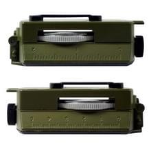 GoldGood DC60-2A buiten multifunctionele militaire reizen geologie Pocket Prismatic Amerikaanse kompas met lumineuze Display (leger-groen)