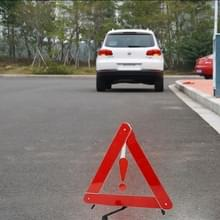 Opvouwbare reflecterende driehoek veiligheidswaarschuwing Board  grootte: 39 5 cm x 35cm (rood)