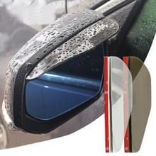 2 PC's flexibele Shelding regen Board zonneklep schaduw Rearview spiegel voor auto Rearview Mirrors(Transparent)