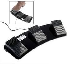 PC-USB drievoudige actie voet Switch(Black)