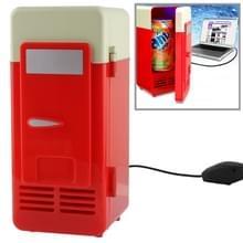 Mini USB PC koelkast drank / Drink blikjes koeling / Heating(Red)