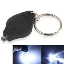 Mini LED-zaklamp  wit licht  sleutelhanger functie  aan/uit-schakelaar & druk Switch(Black)