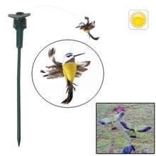 Levensechte decoratieve tuin binnenplaats zonne-vliegende Vogel Toy(geel)