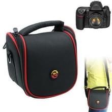 draagbare digitale camera kleding structuur lederen tas met riem  afmeeting: 150x115x135mm