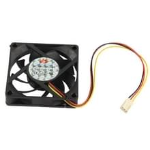 High Speed 7cm 3-pin Cooling Fan(Black)