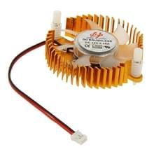 55mm 2-pin VGA Card Cooling Fan (schroeven distance: 55mm)(geel)
