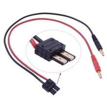 4 0 mm banaan stekker naar TRX mannelijke Connector adapterkabel  lengte: 40cm(Black)