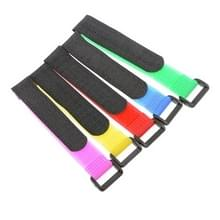 5 stuks 200mm Velcro batterij riem herbruikbare kabel Tie Wrap  willekeurige kleur levering
