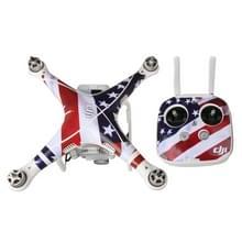 Amerikaanse vlag patroon 4D imitatie koolstofvezel PVC Water weerstand Sticker Kit voor DJI Phantom 3 Quadcopter & afstandsbediening & batterij
