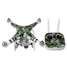 Camouflage patroon 4D imitatie koolstofvezel PVC Water weerstand Sticker Kit voor DJI Phantom 3 Quadcopter & afstandsbediening & batterij