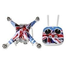 UK vlag patroon 4D imitatie koolstofvezel PVC Water weerstand Sticker Kit voor DJI Phantom 3 Quadcopter & afstandsbediening & batterij