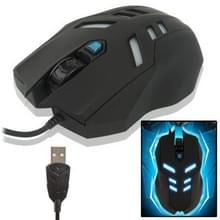 AULA Megatron Serie bedrade optische 2000 DPI USB Gaming Muis met blauwe verlichting