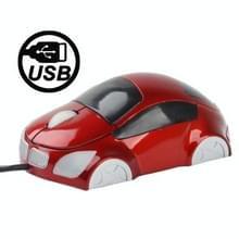 Car Shape USB Optical Mouse(rood)