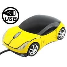 800 DPI auto USB optische muis (geel)