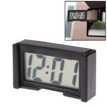 LCD Digital Electronic Car Clock Car Interior Accessory Date Calendar Time Display(Black)