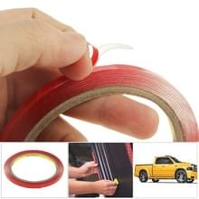 10 stuks universele 3M Car transparant dubbelzijdig plakband  breedte: 6mm(Red)