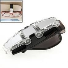 Auto voertuig accessoire dubbele Clip Design zonnebril brillen kaart Pen houder Clip