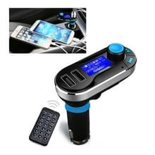 Bluetooth Tacking Handsfree Car Kit FM Transmitter met afstandsbediening  2.1a Dual autolader  voor iPhone  Galaxy  Sony  Lenovo  HTC  Huawei en andere Smartphones